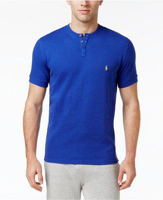 Polo Ralph Lauren Men's Cotton Henley Pajama Top $40 thestylecure.com