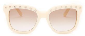 Valentino Women's Stud Browline Retro Sunglasses $346 thestylecure.com