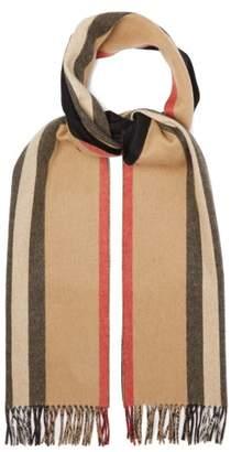 Burberry Icon Stripe Cashmere Scarf - Mens - Beige