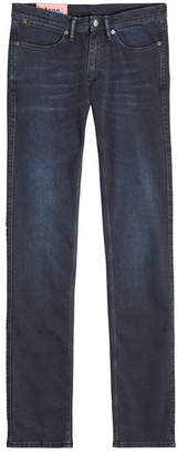 Acne Studios Max Blue Black Slim Jeans