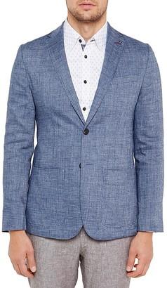 Ted Baker Crosshatch Regular Fit Linen Sport Coat $485 thestylecure.com