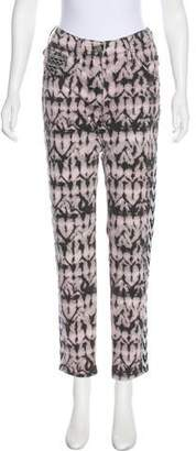Isabel Marant Printed Mid-Rise Jeans
