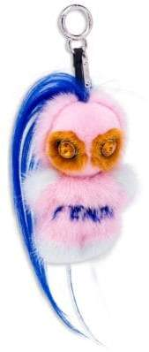 Fendi Fendirumi Piro-Chan Key Charm in Mink and Swarovski Crystals