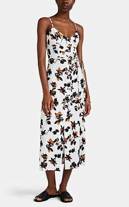 Derek Lam Women's Button-Detailed Floating-Floral Cami Dress - White