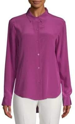 Donna Karan Silk Button-Down Shirt
