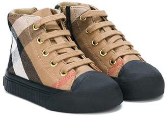 Burberry House Check hi-top trainers