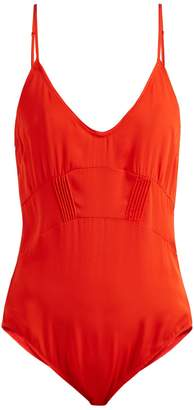 Araks Quella V-neck stretch-silk body