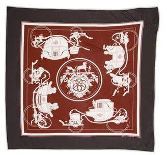 Hermes Ex-Libris Silk Jersey Scarf