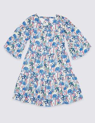 Marks and Spencer All Over Elephant Print Dress (3-16 Years)