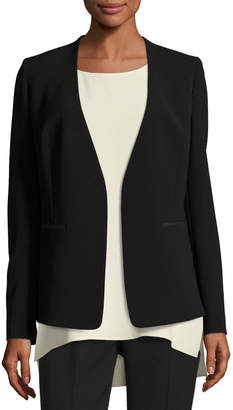 Lafayette 148 New York Dasha Sleek Tech Cloth Blazer Jacket
