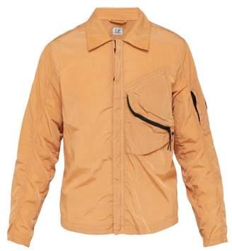 C.P. Company Lens Coated Zip Through Jacket - Mens - Orange