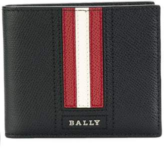 Bally striped billfold wallet