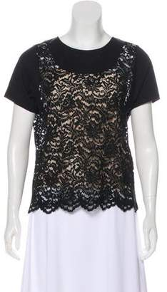 No.21 No. 21 Lace Short Sleeve Top