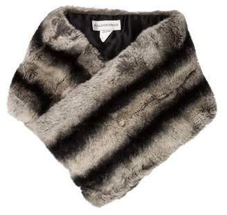 Pologeorgis Fur Striped Stole w/ Tags