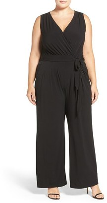 Plus Size Women's Vince Camuto Wide Leg V-Neck Jumpsuit $108 thestylecure.com