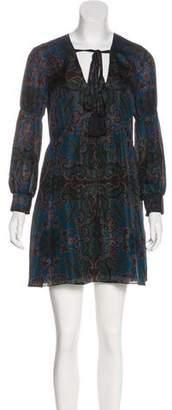 Rachel Zoe Printed Silk Dress w/ Tags
