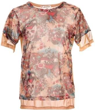 Comme des Garcons mesh print T-shirt