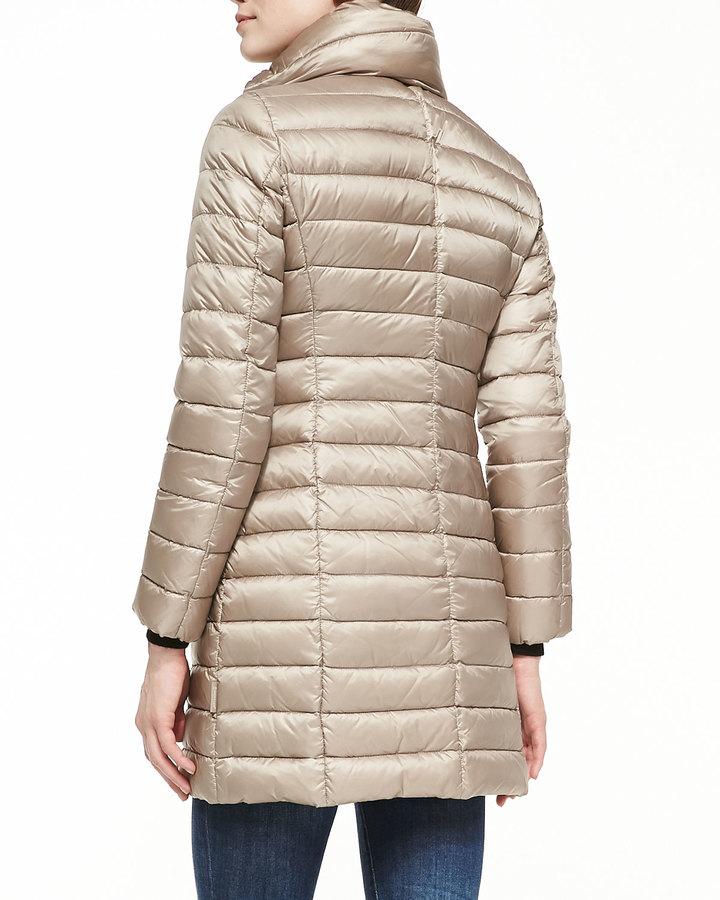 Moncler Vanne Mock-Neck Puffer Coat, Ivory