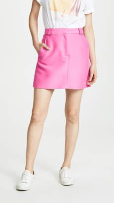 Brandon Maxwell Faille Miniskirt