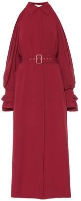 Salvatore Ferragamo Cold-shoulder silk maxi dress