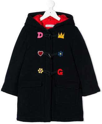 Dolce & Gabbana patch appliqués coat