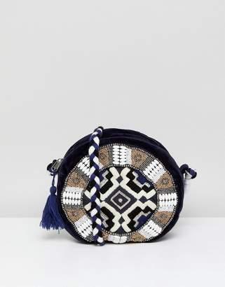 America & Beyond Embellished Round Bag