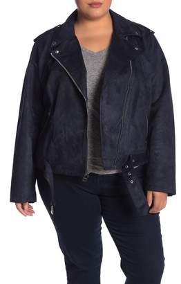Levi's Faux Suede Moto Jacket (Plus Size)