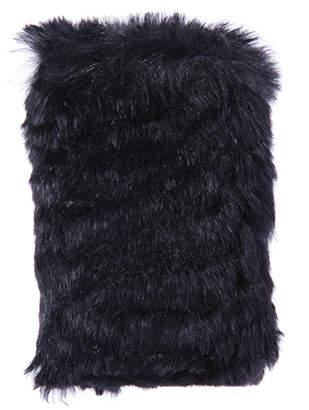 William Dubai Black Fur Wallet