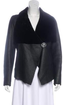 Blue Duck Asymmetrical Leather Jacket