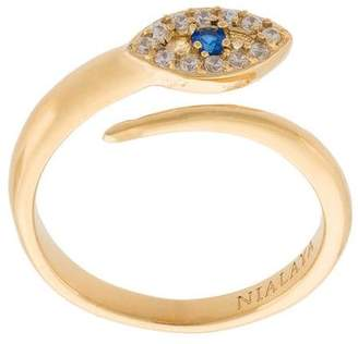 Nialaya Jewelry Twisted Evil Eye Ring
