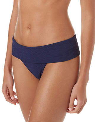 Melissa Odabash Brussels Metallic-Striped Luxe Swim Bikini Bottoms