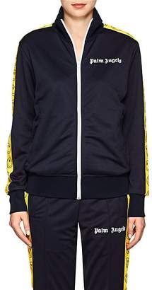 Palm Angels Women's Smiley-Face Tech-Jersey Track Jacket