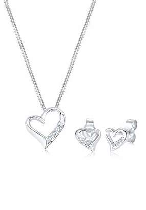 Diamore Women's 925 Sterling Silver Xilion Cut Diamond Heart Pendant Necklace of Length 45 cm