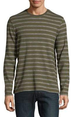 Black & Brown Black Brown Striped Long-Sleeve Cotton Tee