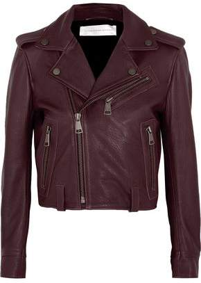 Victoria Beckham Victoria Cropped Leather Biker Jacket