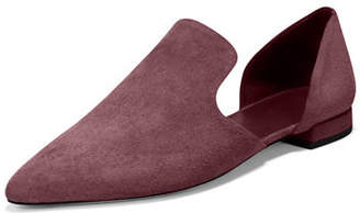 Vince Damris Two-Piece Suede Loafer Flat