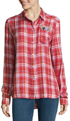 i jeans by Buffalo Plaid Patch Shirt