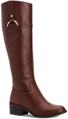 Alfani Women's Step 'N Flex Briaah Wide-Calf Riding Boots