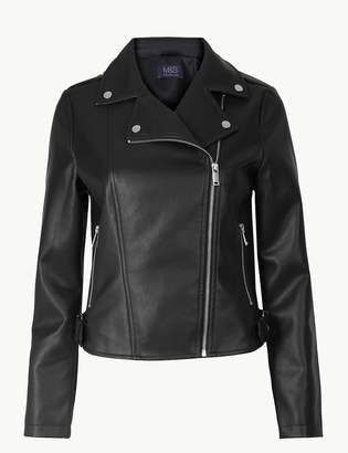 Marks and Spencer Zipped Detail Biker Jacket