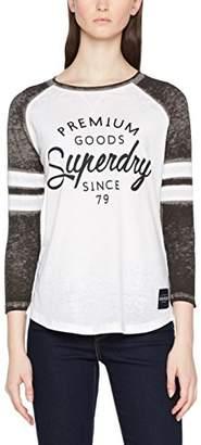 Superdry Women''s Brooklyn Baseball TOP T-Shirt