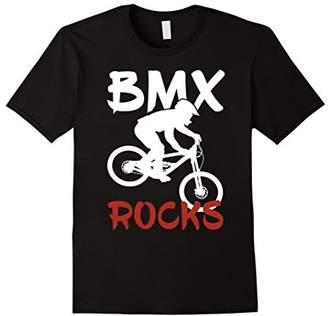 BMX Riding Rocks T Shirt Cool Dirt Bike Race Stunt Gift Tees
