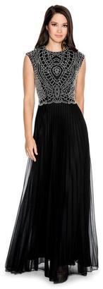 Cachet - Ornate Jewel Neck Long Dress 57421K $478 thestylecure.com