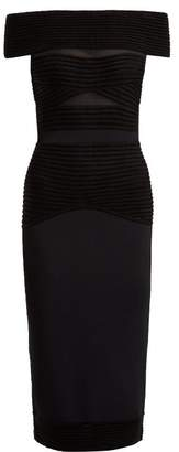 Roland Mouret Hanbury Stretch Jersey Dress - Womens - Black