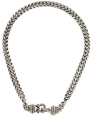 David Yurman Diamond Buckle Necklace