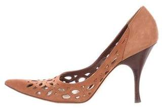 Michael Kors Cutout Suede Pumps