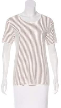 Akris Punto Striped Short Sleeve Top