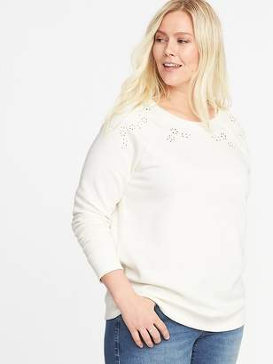Old Navy Relaxed French Terry Eyelet Plus-Size Sweatshirt