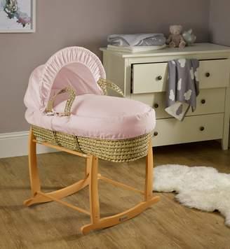 Clair De Lune Cotton Dream Palm Moses Basket - Pink