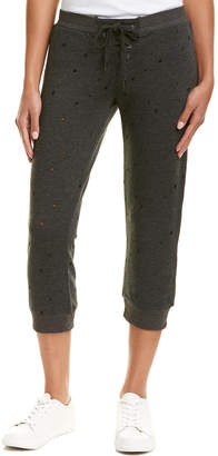 David Lerner Cropped Lace-Up Track Pant