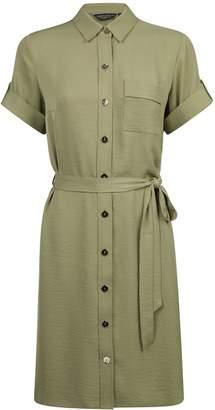 Dorothy Perkins Womens Khaki Shirt Dress
